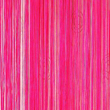 Кисея нитяная штора на кулиске однотонная - Малиновая