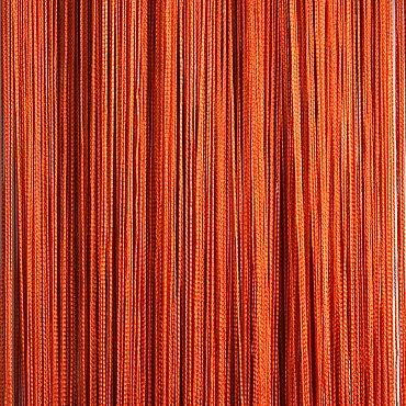 Кисея нитяная штора на кулиске однотонная - Терракот