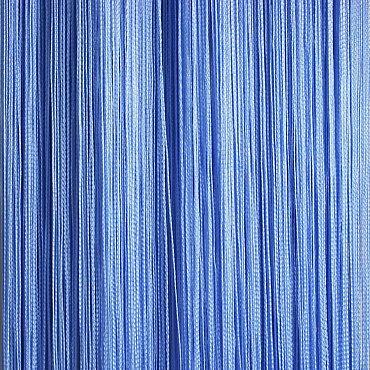 Кисея нитяная штора на кулиске однотонная - Голубая