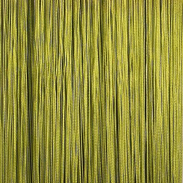 Кисея нитяная штора на кулиске однотонная - Васаби