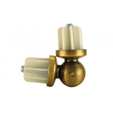 Эркер для металлического карниза, золото антик, диаметр 16 мм