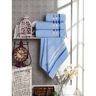 Комплект из 4-х махровых полотенец Vevien Ekonomik (50*90; 70*140), голубой