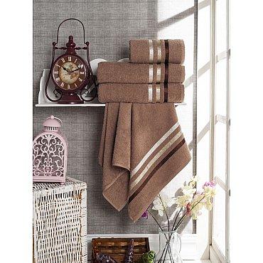 Комплект из 4-х махровых полотенец Vevien Ekonomik (50*90; 70*140), коричневый