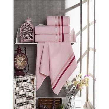 Комплект из 4-х махровых полотенец Vevien Ekonomik (50*90; 70*140), розовый