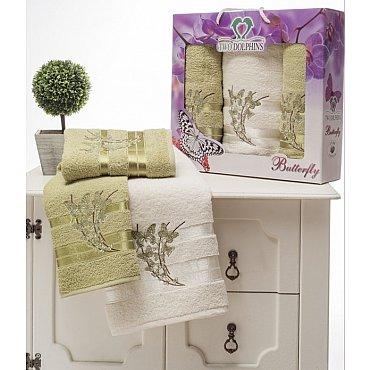 Комплект из 3-х полотенец Butterfly в коробке (50*90; 70*140), зеленый