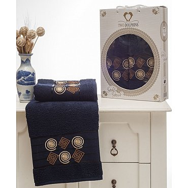 Комплект из 2-х полотенец Gold Greek в коробке (50*90; 70*140), синий