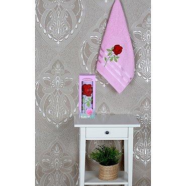 Полотенце Vevien Роза в коробке, светло-розовый, 50*90 см
