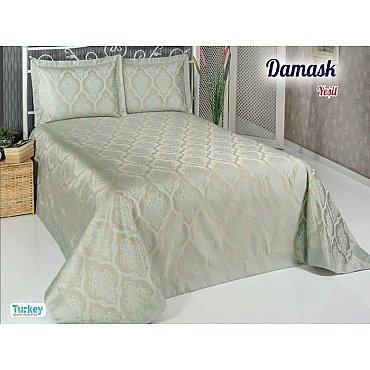 Покрывало DO&CO Damask, зеленый, 240*260 см