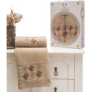 Комплект из 2-х полотенец Cotton Class в коробке (50*90; 70*140), бежевый