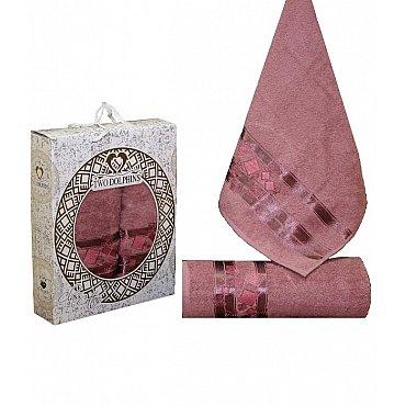 Комплект из 2-х полотенец Cotton Class в коробке (50*90; 70*140), брусничный