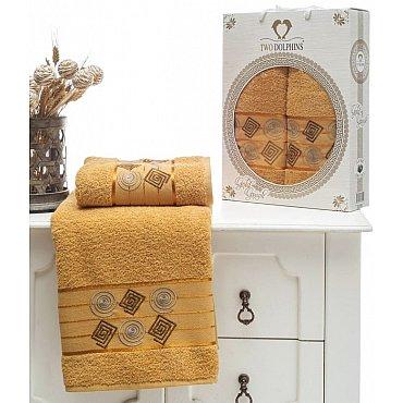 Комплект из 2-х полотенец Cotton Class в коробке (50*90; 70*140), горчичный