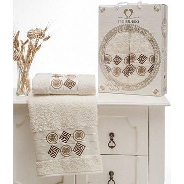 Комплект из 2-х полотенец Cotton Class в коробке (50*90; 70*140), кремовый