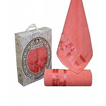 Комплект из 2-х полотенец Cotton Class в коробке (50*90; 70*140), персиковый