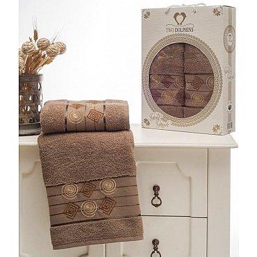 Комплект из 2-х полотенец Cotton Class в коробке (50*90; 70*140), шоколадный