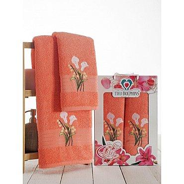 Комплект махровых полотенец Golden Lily в коробке (50*90; 70*140), персиковый