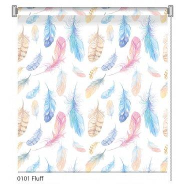 """Рулонная штора ролло """"Fluff"""", дизайн 0101, 80 см"""