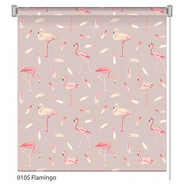 """Рулонная штора ролло """"Flamingo"""", дизайн 0105, 80 см"""