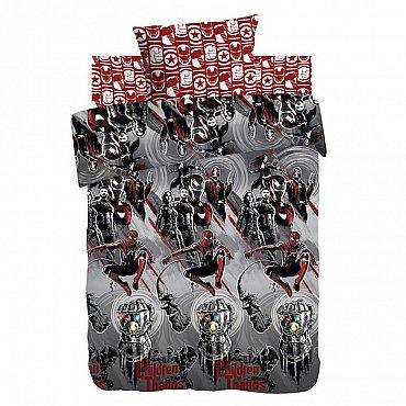 КПБ 1.5 хлопок Мстители Neon (70х70) рис. 9039-1/9038-2 Война Бесконечности