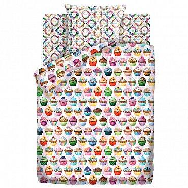 КПБ 1.5 хлопок Emoji (70х70) рис. 9029-1/8969-1 Капкейк