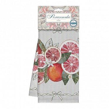Полотенце вафельное 50*70 'Романтика' Грейпфрут