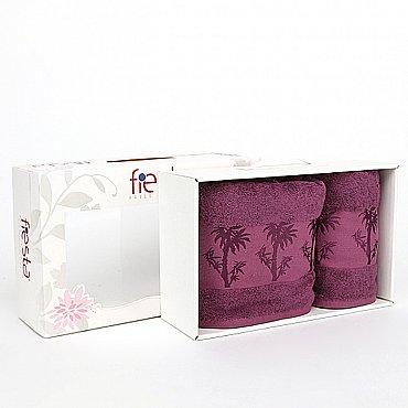 "Набор полотенец ""Bamboo"", фиолет, 2 шт."