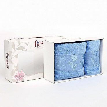 """Набор полотенец """"Bamboo"""", голубой, 50*90 см, 70*140 см, 2 шт."""