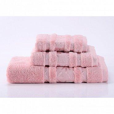 """Полотенце банное """"Bamboo PR"""", розовый, 40*70 см"""