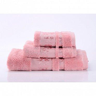 """Полотенце банное """"Emily"""", розовый, 50*90 см"""