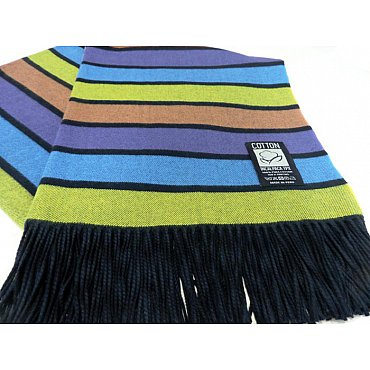 Плед INCALPACA Пима, голубой, салатовый, фиолетовый, 170*210 см