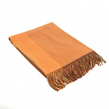 Плед INCALPACA Пима, оранжевый, желтый, 170*210 см