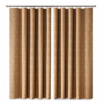 Комплект штор Primavera №1110051, коричневый