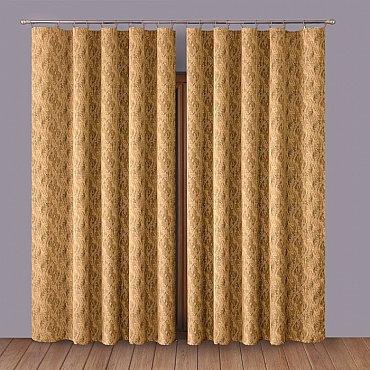 Комплект штор Primavera №1110056, коричневый