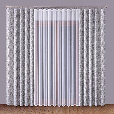 Комплект штор Primavera №1110060, серый, белый