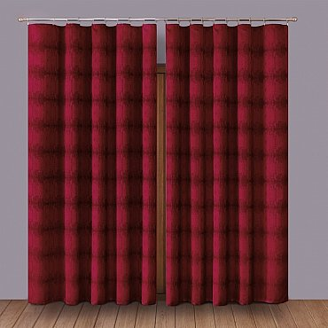 Комплект штор Primavera №1110068, бордовый