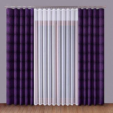 Комплект штор Primavera №1110069, сиреневый, белый
