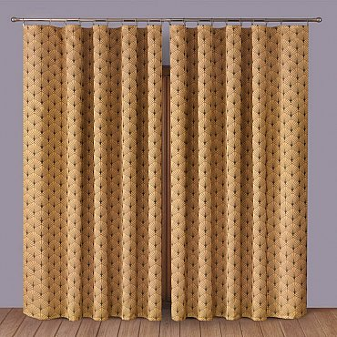 Комплект штор Primavera №1110083, коричневый