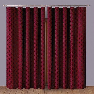 Комплект штор Primavera №2, бордовый
