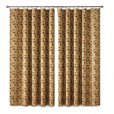 Комплект штор Primavera №2, коричневый