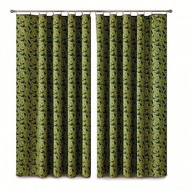Комплект штор Primavera №1110092, зеленый