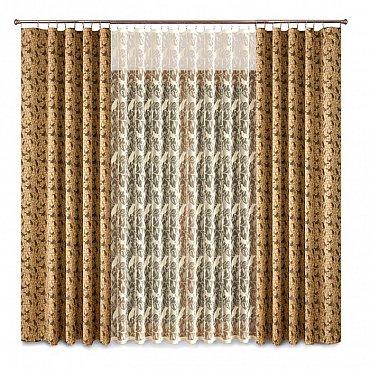 Комплект штор Primavera №1110093, коричневый