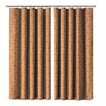 Комплект штор Primavera №1110173, коричневый