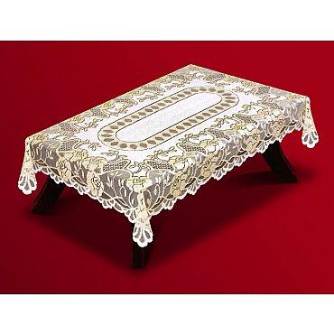 Скатерть Haft №202600/120, кремово-золотой, 120*160 см