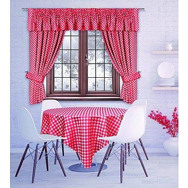 Комплект штор для кухни №204280, красный