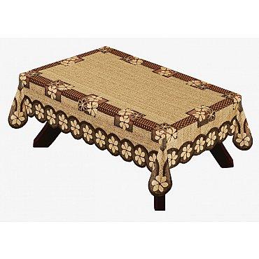 Скатерть Haft №38790/100, оранжево-коричневый, 100*150 см