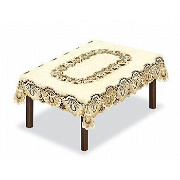 Скатерть Haft №46199/140, кремово-золотой, 140*250 см