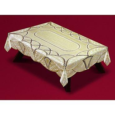 Скатерть Haft №54470/120, кремово-золотой, 120*160 см