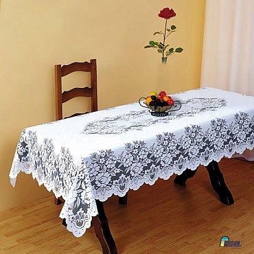 Скатерть Wisan №8070, белый, 140*180 см