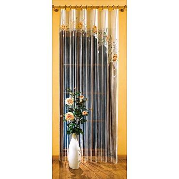 Кисея нитяная штора №9895 на зажимах, кремовый, 150*250 см