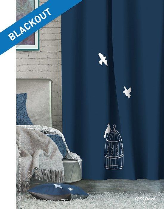 Шторы Лофт Блэкаут Dove, синий (nt-100746)