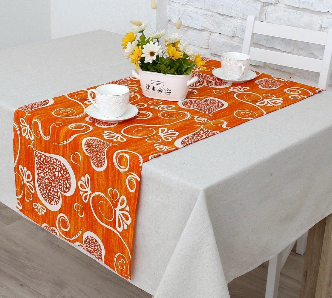 """Дорожка на стол """"Амур""""-2н, оранжевый (D.Am-n2)"""
